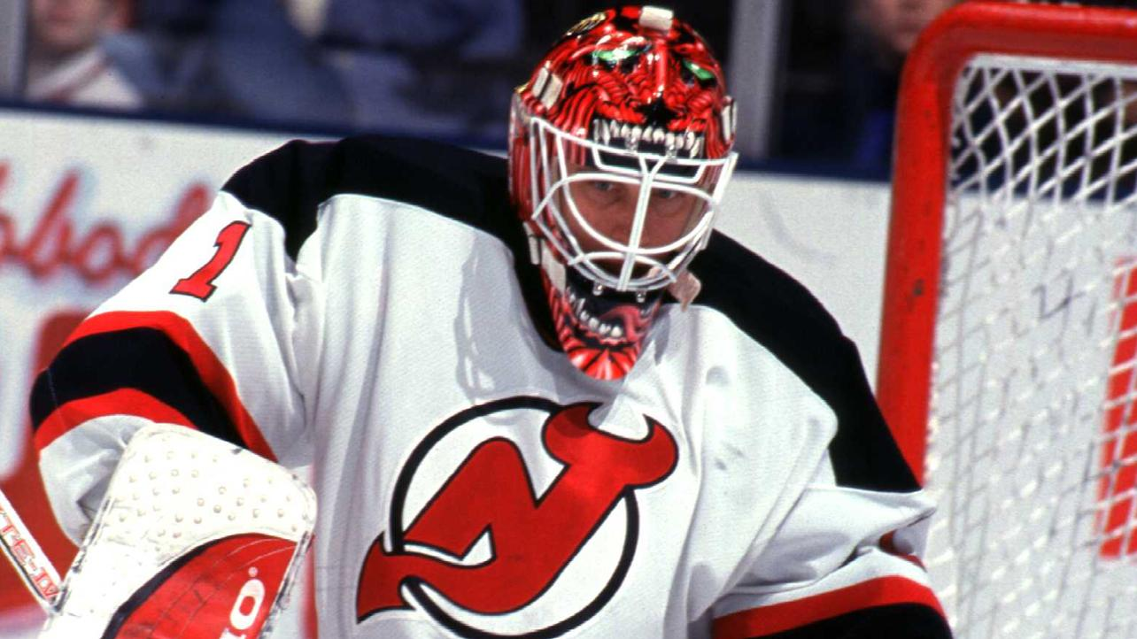 """Mike Dunham, New Jersey Devils: You could almost hear Dunham's mask screaming """"We're the Devils! We're the Devils!"""" at unsuspecting skaters during the 1998 season."""
