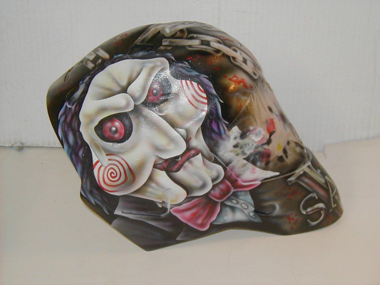 Olaf Kolzig of the Tampa Bay Lightning's Saw inspired mask